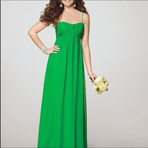NWT Alfred Angelo shamrock green maxi gown 12